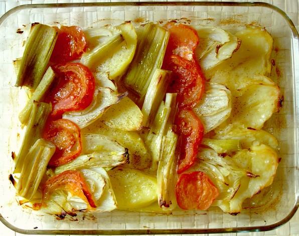 Receta saludable plancha de verduras al horno tu for Como cocinar pescado al horno