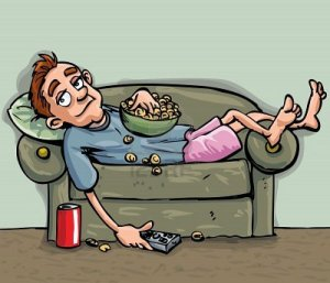 9155015-caricatura-relajante-adolescente-en-el-sofa-el-es-comer-un-bocadillo-y-tiene-un-refresco-practico